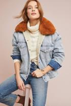 Levi's Faux Fur Trucker Denim Jacket