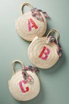 Maud Fourier Paris Monogram Straw Tote Bag