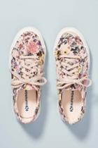 Superga Floral-printed Velvet Sneakers