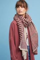 Anthropologie Houndstooth & Checkered Scarf