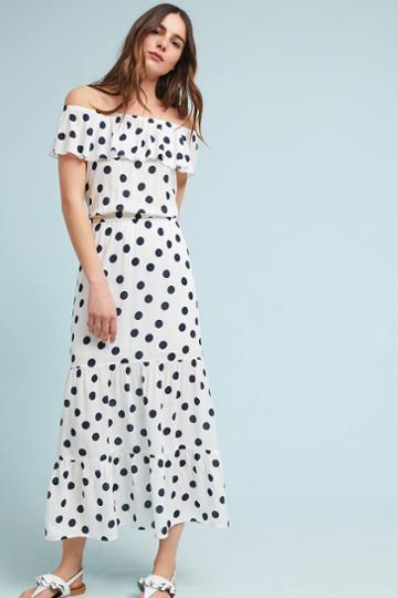 Three Dots Polka Dot Off-the-shoulder