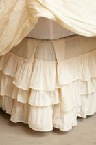 Anthropologie Pleated Ruffles Bedskirt