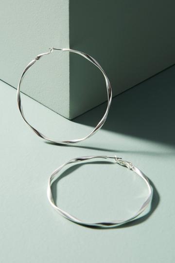 Anthropologie Twisted Hoop Earrings