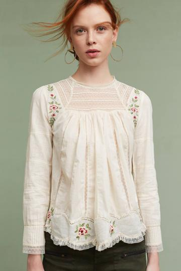 Intropia Ashlee Embroidered Top
