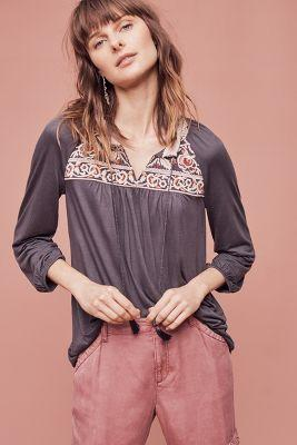 One September Nightingale Tassel Blouse