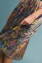 Maeve Printed + Pleated Skirt