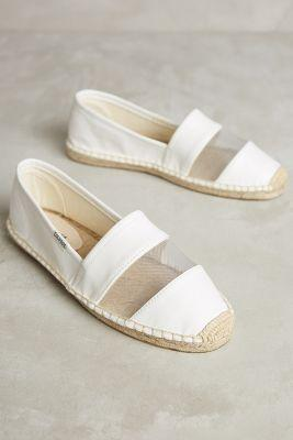 Soludos Vegan Leather Espadrilles White
