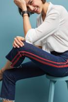 Mother The Insider High-rise Crop Step Fray Jeans