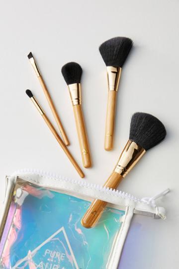Pure Aura Wood Makeup Brush Set