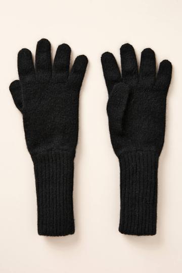 Rosie Sugden Long Ribbed Cashmere Gloves