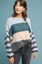 Sundays Colorblock Striped Sweater