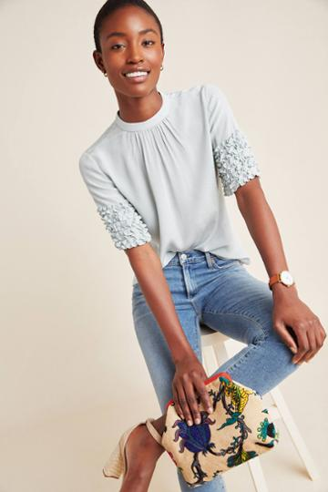 Current Air Jean Pintucked Blouse
