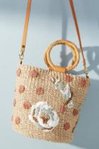 Aranaz Pomono Straw Bucket Bag