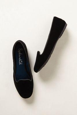 Anthropologie Cannes Velvet Smoking Loafers