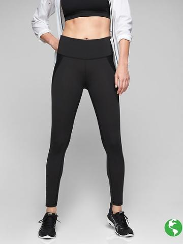 Athleta Womens Stealth Tight Size S Tall - Black