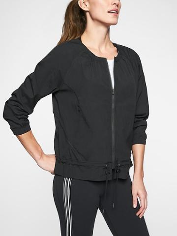 Athleta Womens Avenue Jacket Black Size L