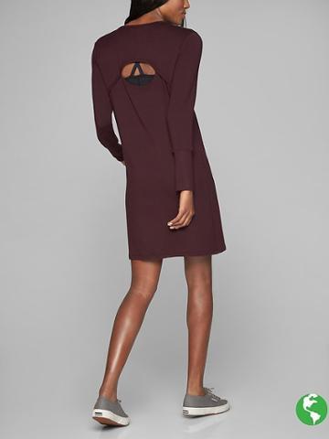 Athleta Womens Crossover Sweatshirt Dress Size M - Cassis