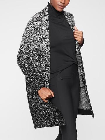 Athleta Womens Wythe Sweater Wrap Black Ombre Size Xxs