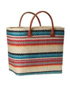 Athleta Womens Structured Straw Tote Size One Size - Multi Stripe