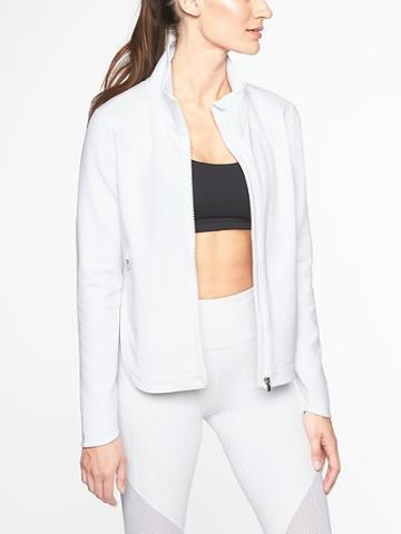 Athleta Womens Interval Jacket Bright White Size M