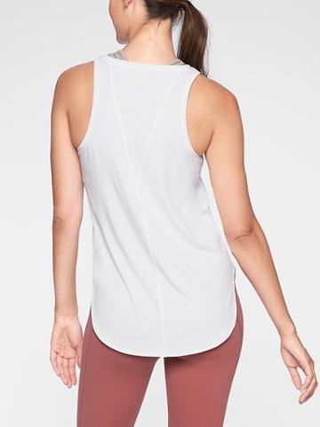 Athleta Womens Essence Semi Fit Tank Bright White Size S