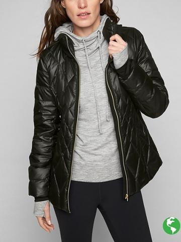 Athleta Womens Responsible Down Jacket Size M Petite - Black