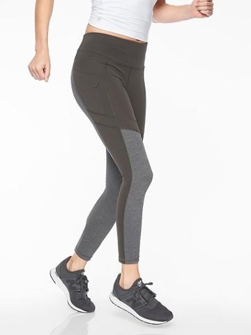 Athleta Womens All In Structure 7/8 Tight Arbor Olive Size S