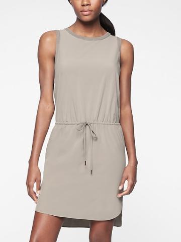 Athleta Womens Rincon Dress Silver Grey Size M