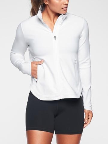 Athleta Womens Interval Jacket White Size Xl