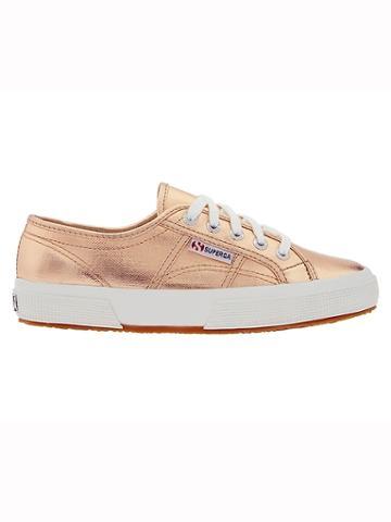 Athleta Womens Metallic 2750 Sneaker By Superga Rose Gold Size 6