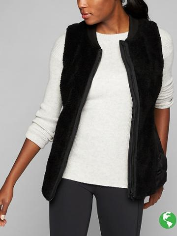 Athleta Womens Responsible Down Tundra Vest Size L - Black