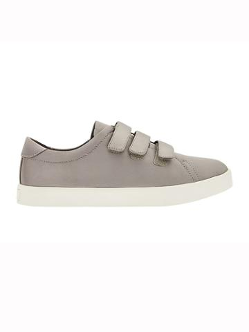 Athleta Womens Sola Triple Strap Sneaker By Dr. Scholls Grey Satin Size 10