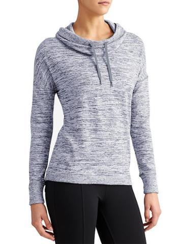 Athleta Womens Blissful Cowl Hoodie Grey Heather Size Xl