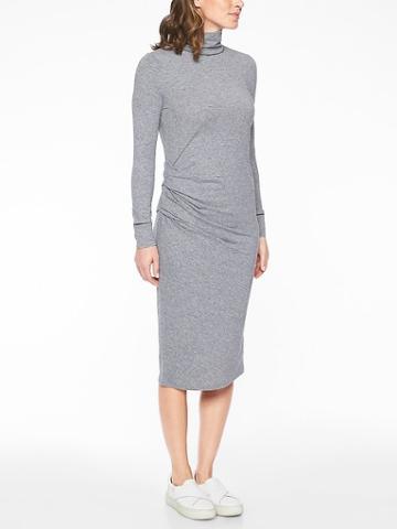 Athleta Womens Industry Turtleneck Dress Charcoal Heather Size Xxs