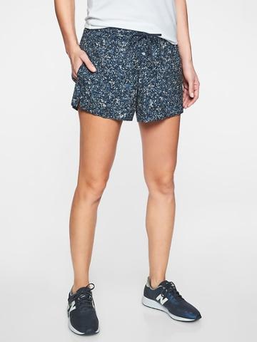 Athleta Womens Printed Baja Short Summer Sandstone Navy Size 0
