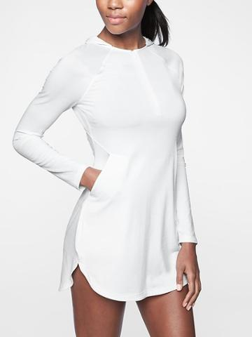 Athleta Womens Pacifica Pleated Dress White Size M