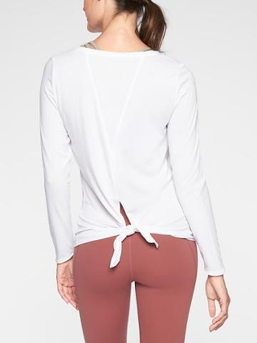 Athleta Womens Essence Semi Fit Long Sleeve Bright White Size L