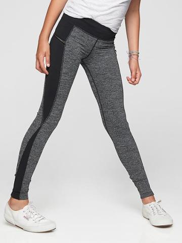 Athleta Texture Zip Around Tight Size L/12 - Black