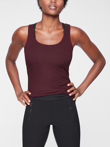 Athleta Womens Essence Ribbed Layering Tank Auberge Size Xxs