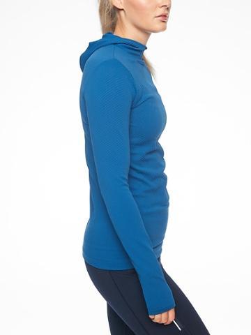 Athleta Womens Flurry Scuba Hoodie Long Sleeve Peacock Size S