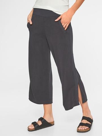 Athleta Womens Serenity Wide Leg Pant Black Size S