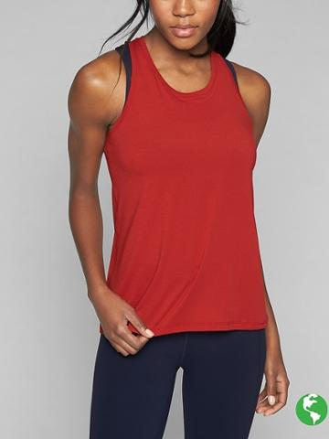 Athleta Womens Power Up Tank Size M Tall - Scorched Chili
