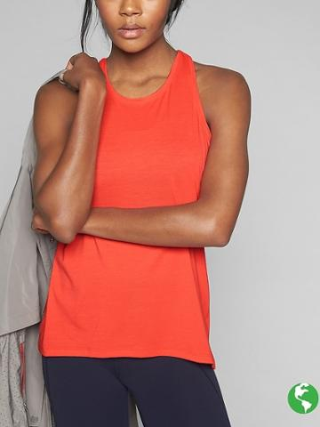 Athleta Womens Power Up Tank Size M Tall - Fire Coral