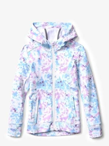 Athleta Printed Warm Up Hoodie Size L/12 - Bliss