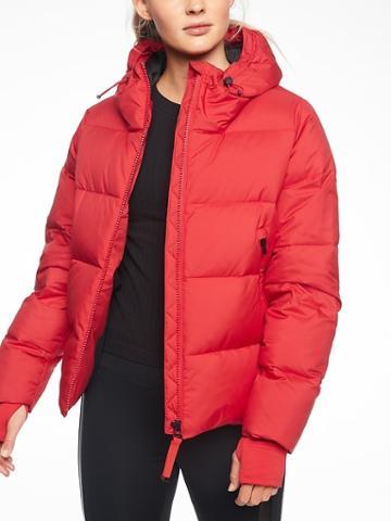 Athleta Womens Snow Down Jacket Radiant Red Size L