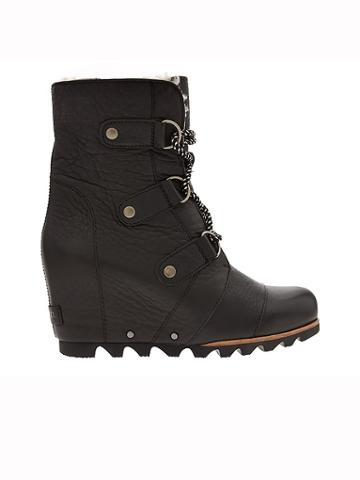 Athleta Womens Joan Of Arctic Wedge Mid Shearling Boot By Sorel Black Size 8