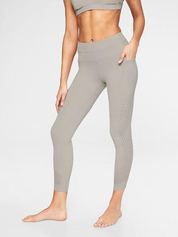 Athleta Womens Chakra 7/8 Tight Silver Grey Size L