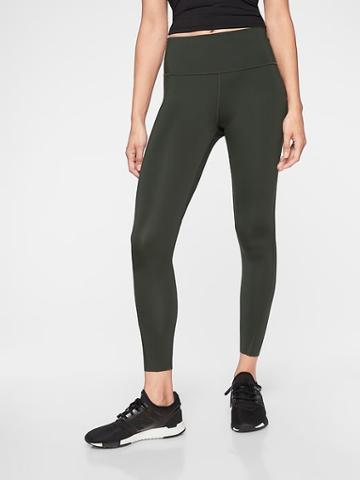 Athleta Womens Challenge 7/8 Tight Black Olive Size Xxs