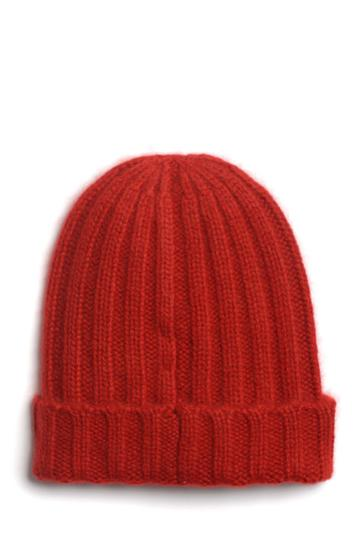 Chunky Rib Hat In Deep Red