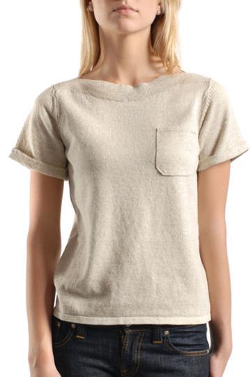 Sweatshirt Top in Beige